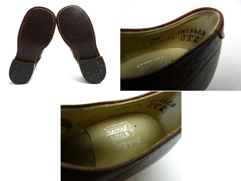 キッズ用 1970s USA製 Foot Traitsレザーシューズ 11 1/2E(18.5cm相当)(デッドストック)【中古】