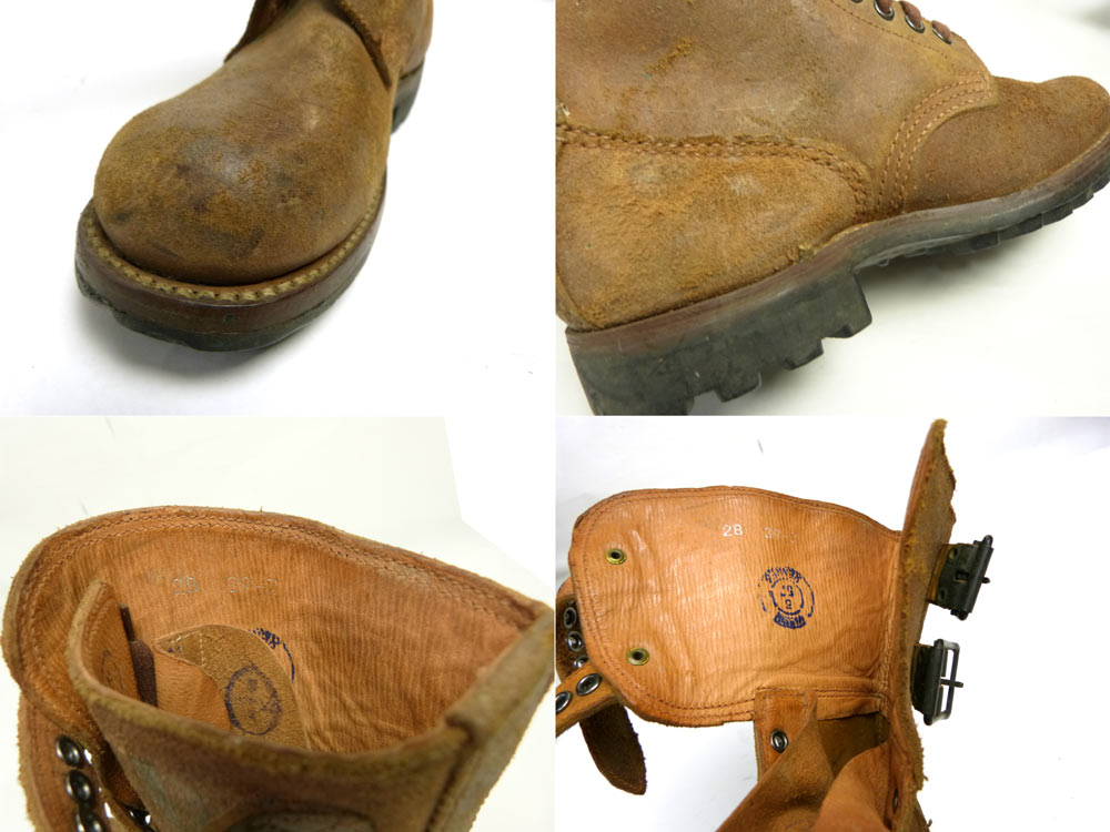 1957年製フランス軍 ダブルバックル コンバット/コマンドブーツ 39(24.5-25cm相当)(ビンテージ)(実物)【中古】【送料無料】