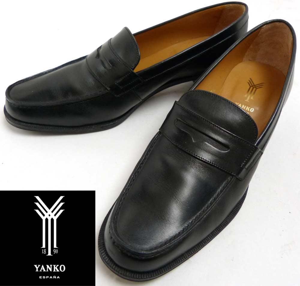 スペイン製 YANKO ヤンコ レザーコイン(ペニー)ローファー UK4C(22−22.5cm相当)(レディース)【中古】