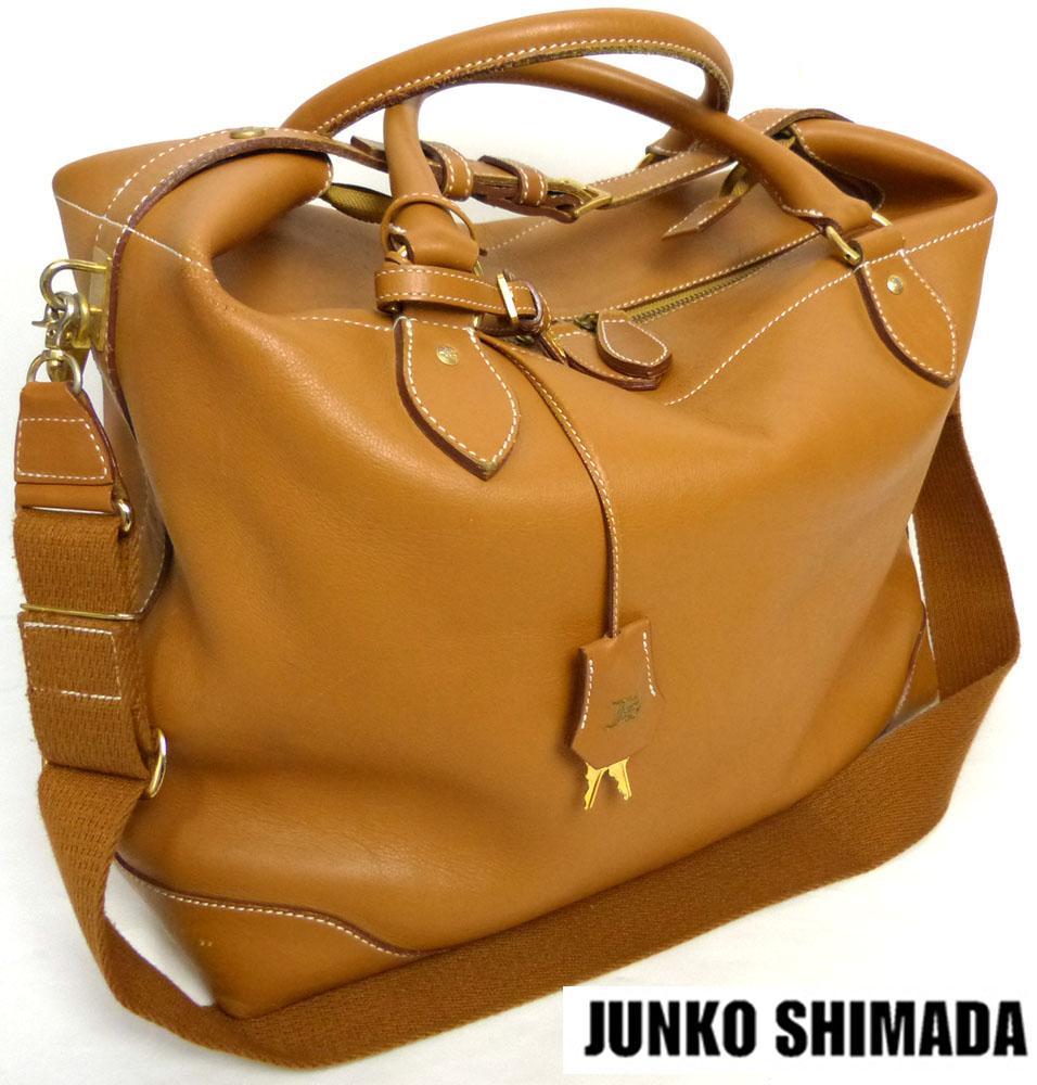 ジュンコ シマダ JUNKO SHIMADA 2WAY レザーボストンバッグ / ハンドバッグ/ショルダーバッグ【中古】