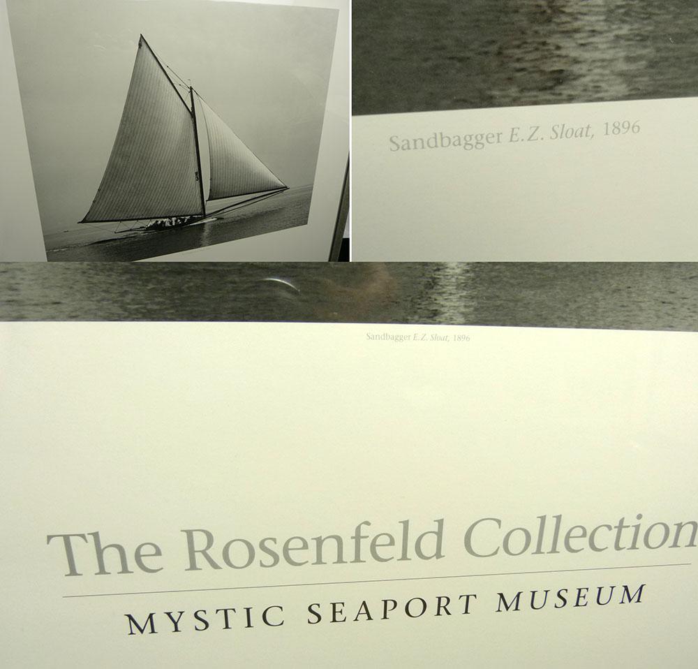 1970-80s USA製 Mystic Seaport Museum ニールセン アルミフレーム/額縁/小全紙【中古】【送料無料】