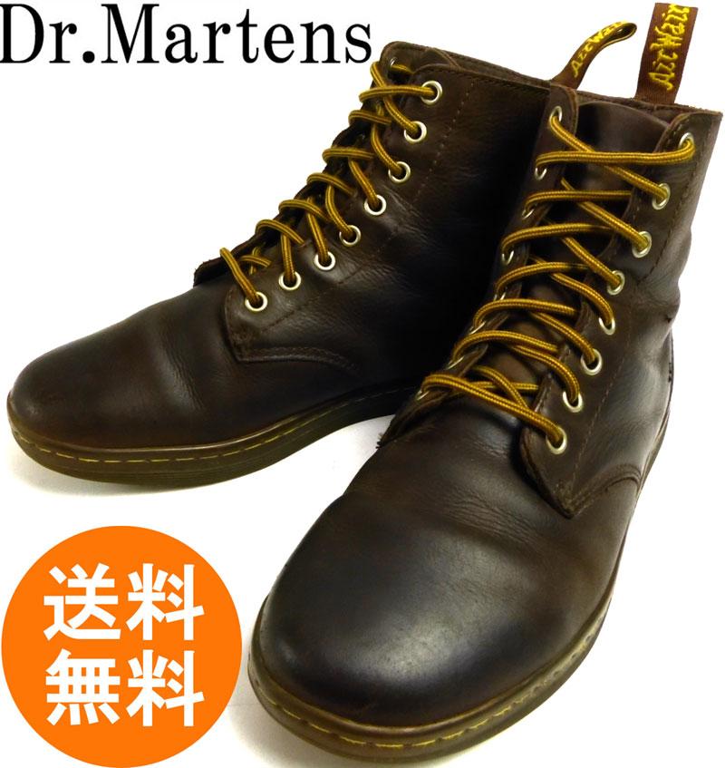 ドクターマーチン Dr.Martens 8ホール レザーブーツ/ハイカットスニーカー UK8(26.5cm相当)(メンズ) 【中古】