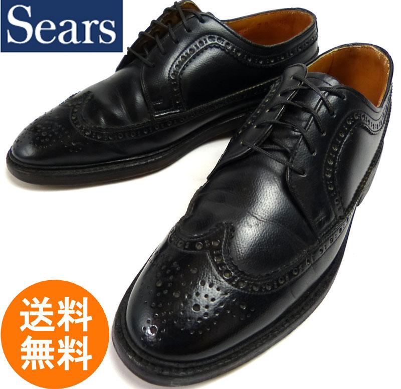 スペイン製 SEARS シアーズ ロングウィングチップ シューズ 7D(25cm相当) ( メンズ )【中古】