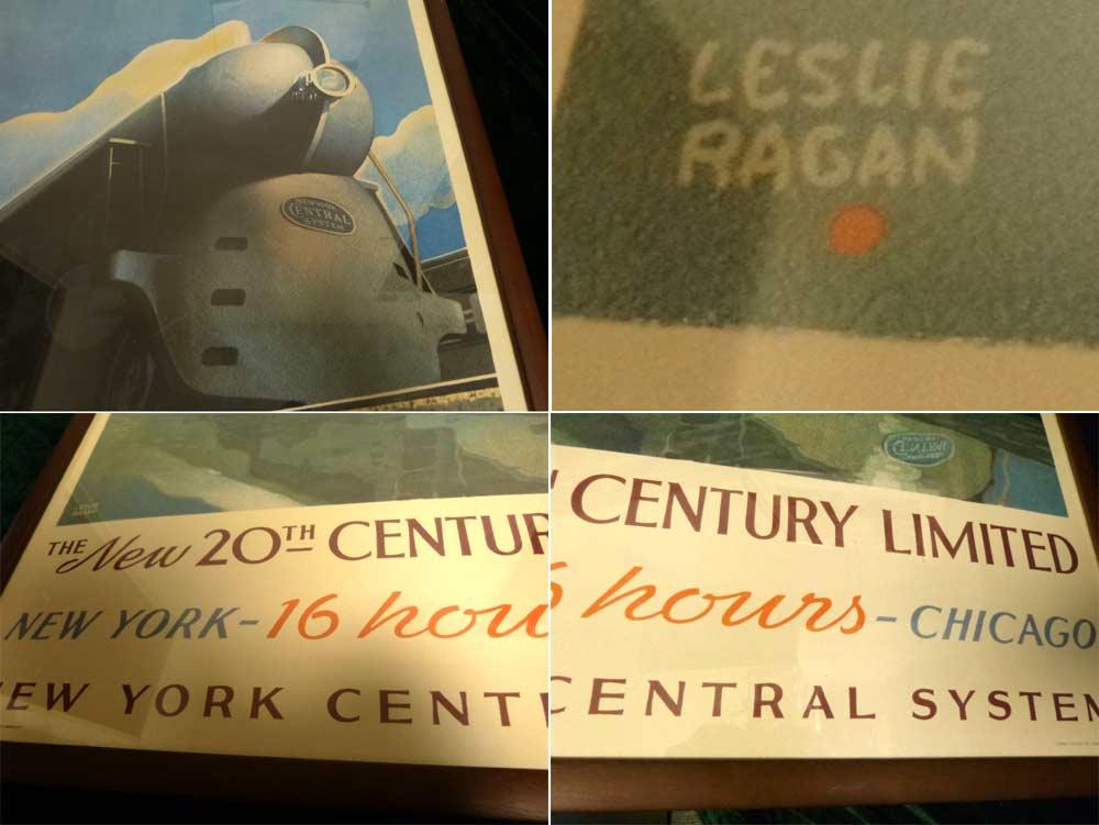 レスリー・ラガン LESLIE RAGAN The New 20th Century Limited ポスター / 額装【中古】