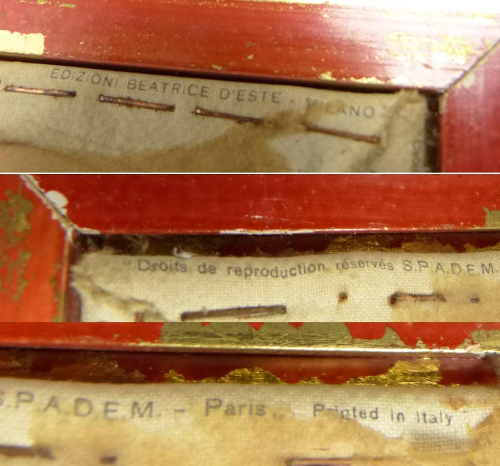 イタリア製  ルノワール /ムーラン・ド・ラ・ギャレットの舞踏会 キャンバスプリント 額装【中古】