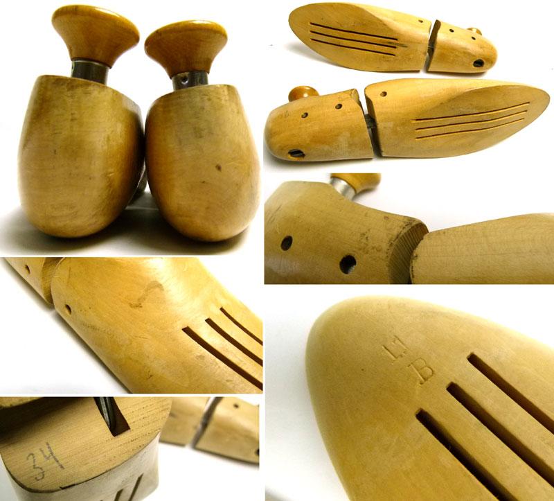 ビンテージ 木製シューキーパー / シューツリー  11B(29〜29.5cm相当 )【中古】