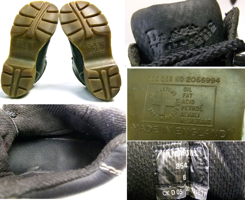 英国(イングランド)製 ドクターマーチン Dr.Martens 6ホール ブーツ UK6(24.5cm相当)( レディース )【中古】