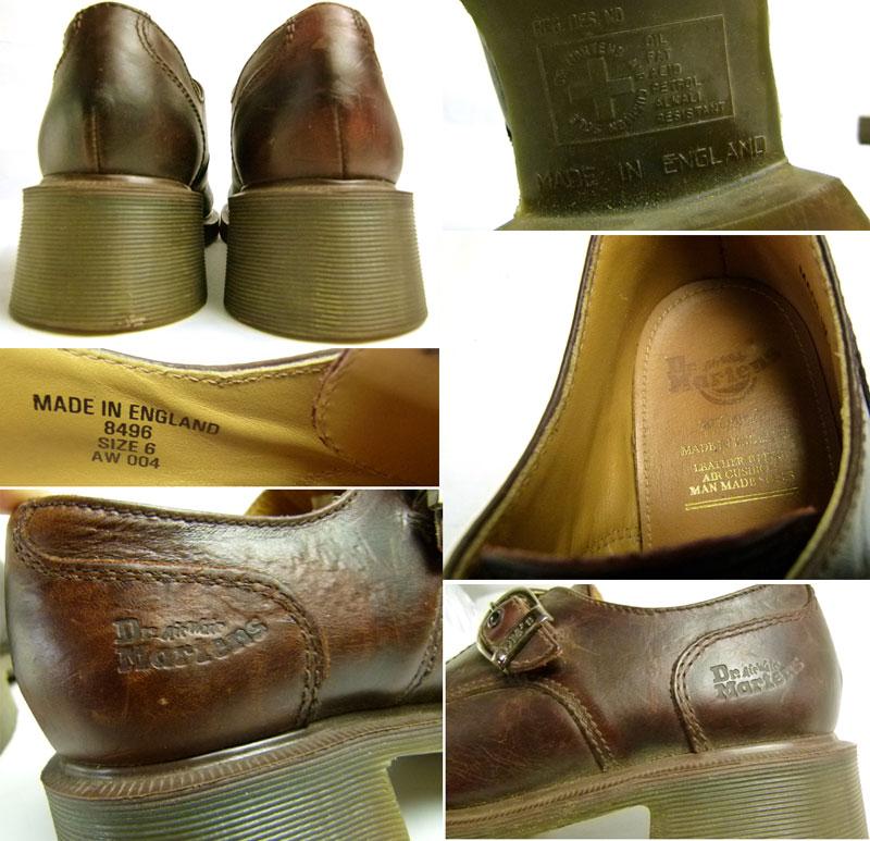 ドクターマーチン Dr.Martens 英国製 モンクストラップシューズ UK6(24.5cm相当) 【送料無料】【中古】