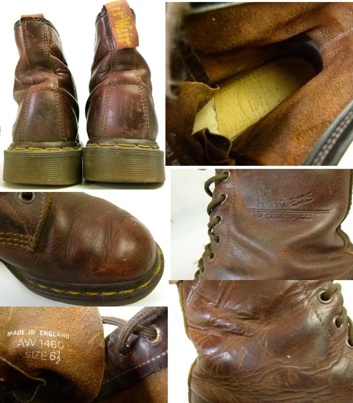 ドクターマーチン Dr.Martens イングランド(英国)製 8ホール ブーツ UK6 1/2(25cm相当)【中古】