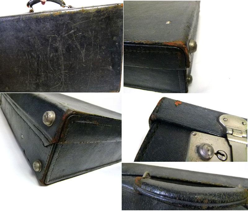 アンティーク トランク オールド スーツケース(黒)【中古】