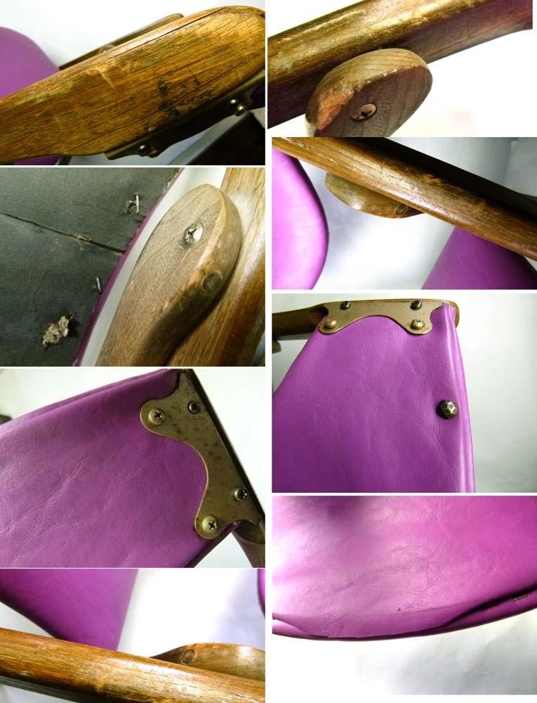 アンティーク 60s  Coronet Wonderfold フォールディング木製チェア 折り畳みイス【中古】【送料無料】