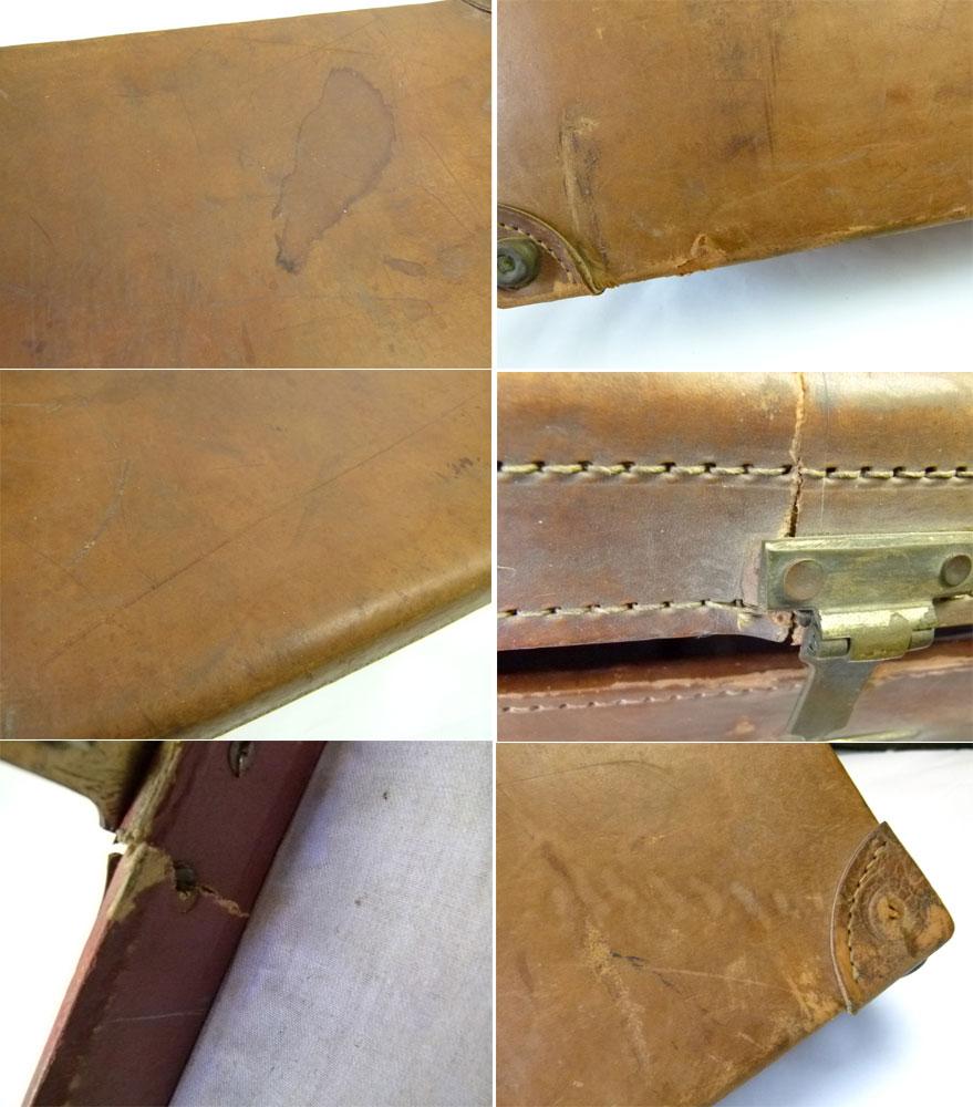 アンティーク トランク オールド スーツケース(茶)【中古】