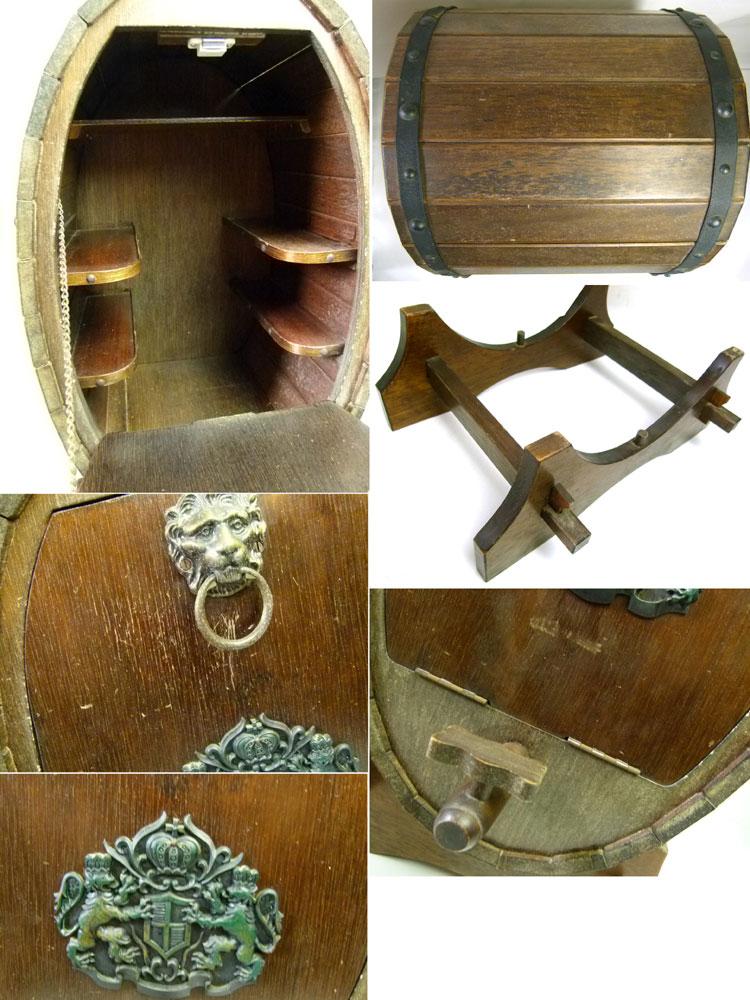 アンティーク ワイン樽型木製 バーキャビネット【中古】【送料無料】