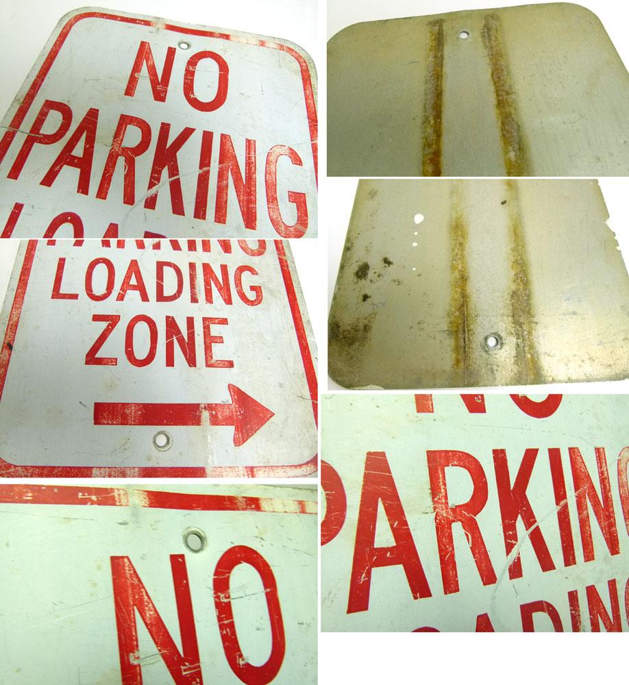 ビンテージ NO PARKING 道路標識 駐車禁止【中古】