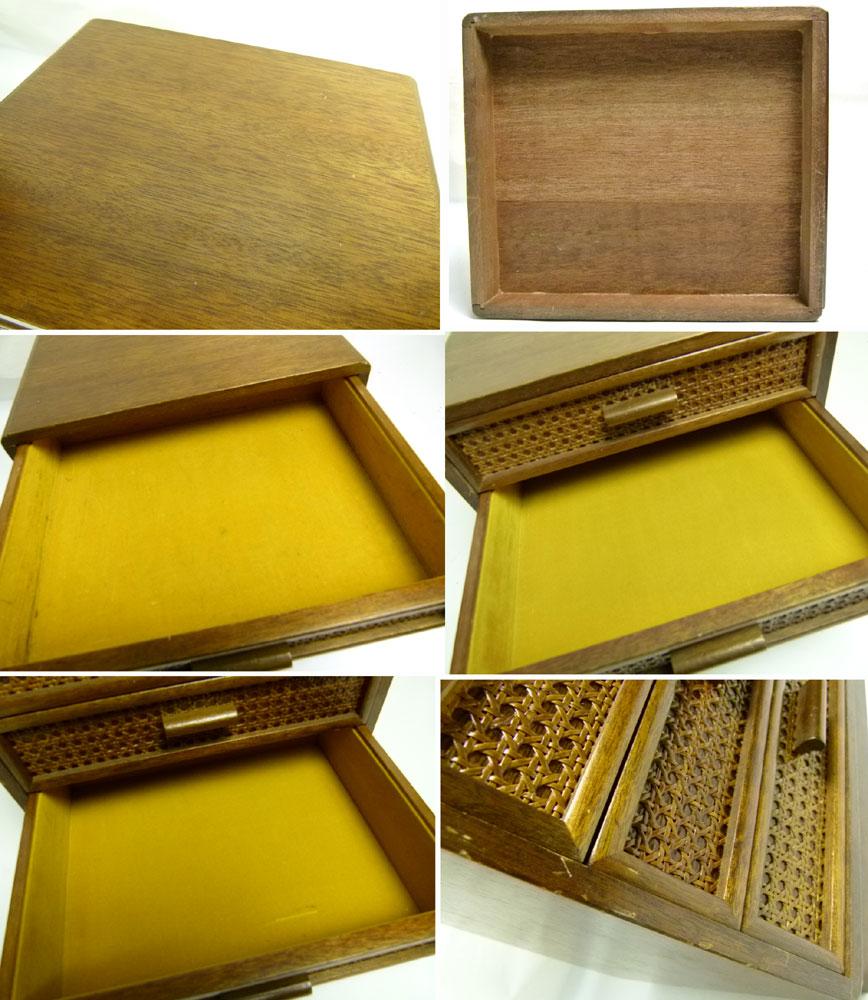 昭和レトロ 古い木製のクラシカルな小引き出し 3杯  アンティーク【中古】