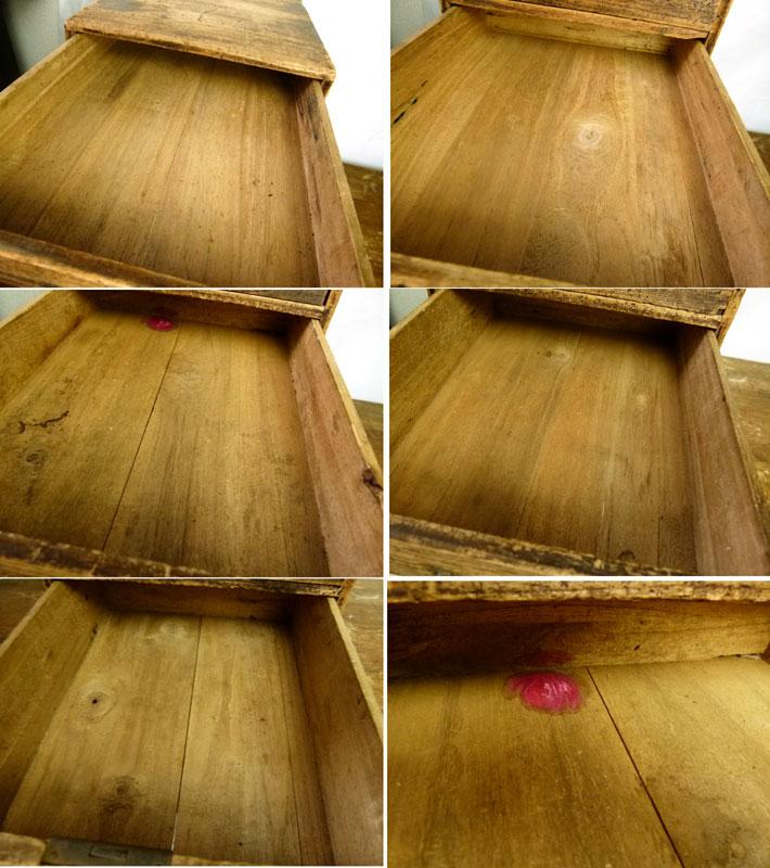 昭和レトロ 古い木味の小引出し 5段 小箪笥 アンティーク【中古】【送料無料】