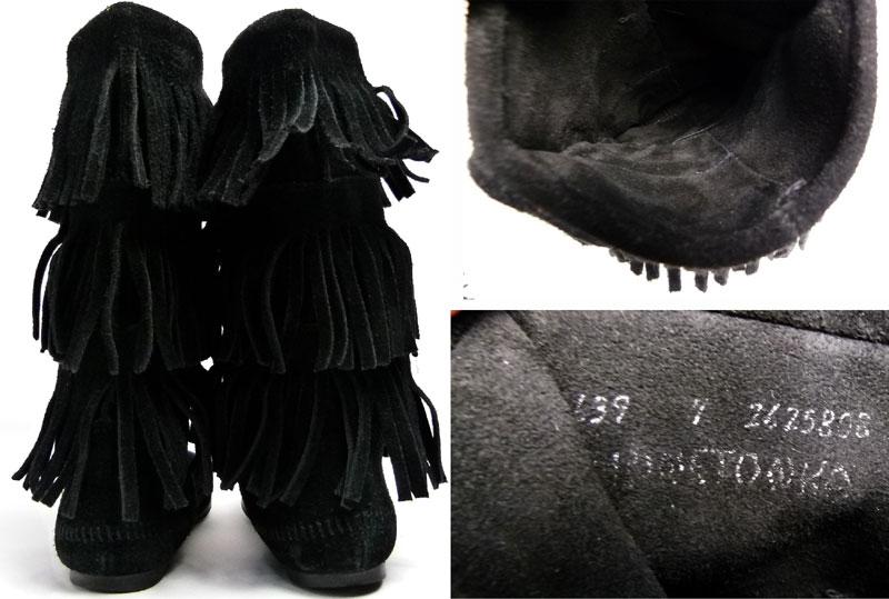 ミネトンカ Minnetonka フリンジブーツ US7(24cm相当)( レディース )【中古】