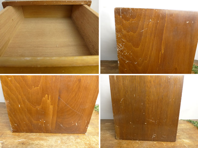昭和レトロ 古い木味の小引出し 3段 小箪笥 アンティーク【中古】