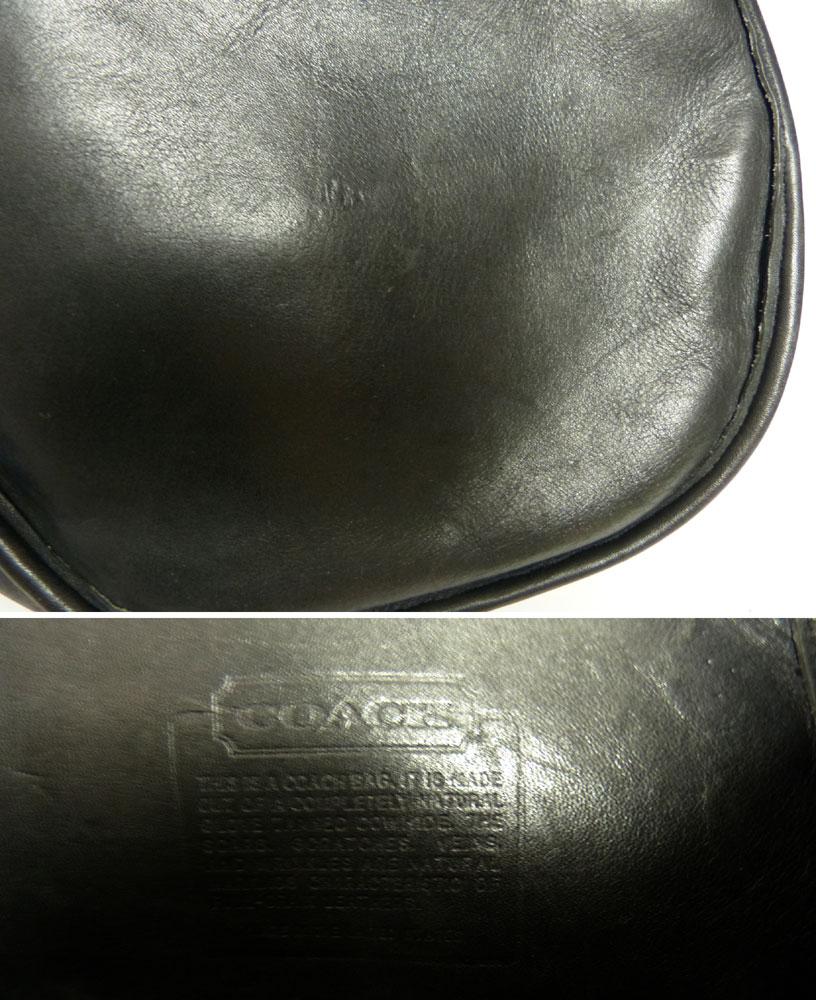 USA製オールドコーチ レザー バケツ型ショルダーバッグ OLD COACH  (黒)【中古】【送料無料】