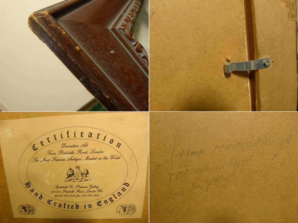 UK製 ヴィンテージ 木製装飾額 ウッドフレーム Jubilee Champions ジュビリーチャンピオンズ1860-1910 額装【中古】【送料無料】