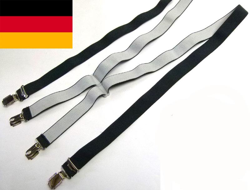 ドイツ製 クリップサスペンダー (メンズ・レディース)【中古】【メール便可】