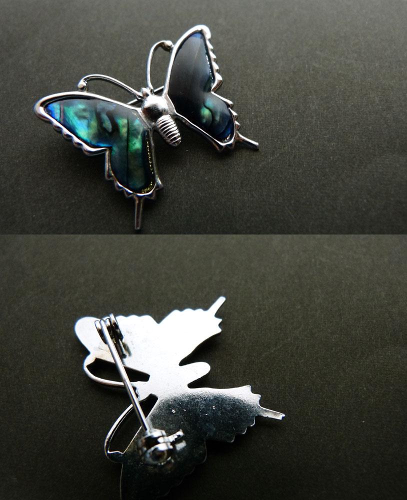 蝶のビンテージブローチ(バタフライ)/コスチュームジュエリー【中古】【メール便対応】