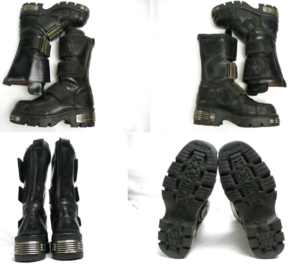 スペイン製 ニューロック / NEW ROCK 重厚メタル付きレザーブーツ 40/41(25-25.5cm相当)(メンズ)【中古】