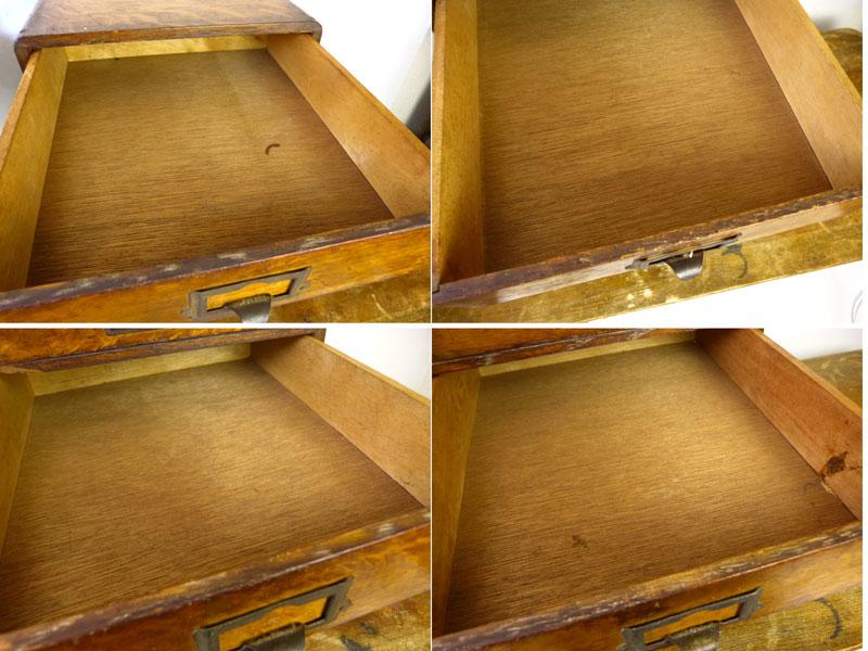 昭和30年代 レトロ 古い木味の小引出し 5杯 小箪笥 アンティーク【中古】