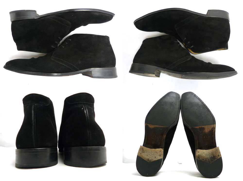 スペイン製 インテレッサ INTERESSA スエード チャッカブーツ 8(26.5cm相当)(メンズ)【中古】