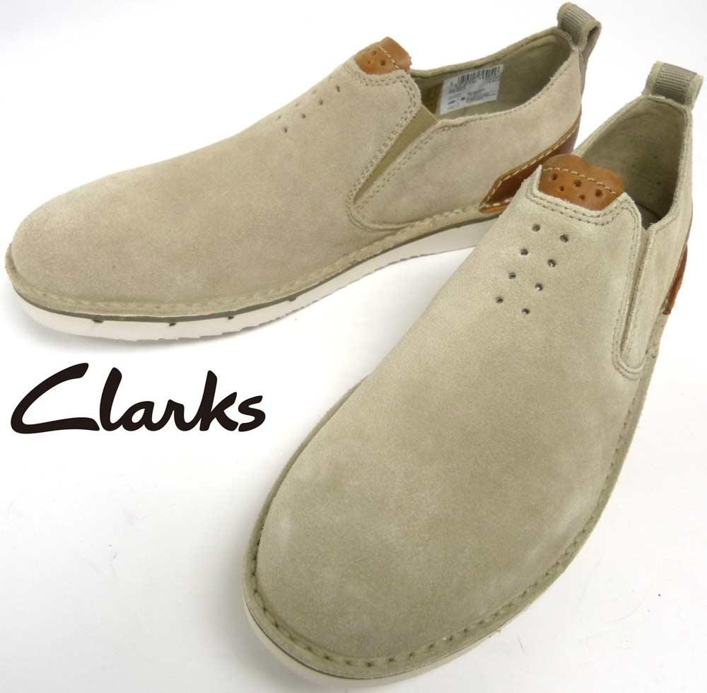 【未使用】クラークス Clarks Collection スエード スリッポンシューズ US8 1/2(26cm相当)(メンズ)【中古】