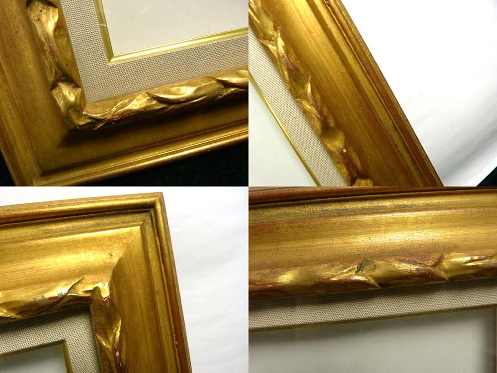 レトロ ヴィンテージ オールド シャビーな金色額縁 F3/3号 油彩額縁 / 油絵【中古】