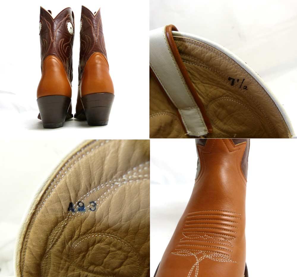 1970-80s FUNNY WESTERN ファニー ウエスタン ブーツ 7 1/2(25-25.5cm相当)(レディース)(デッドストック)【中古】