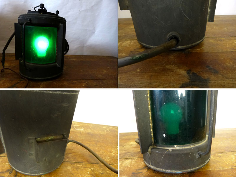昭和レトロ 船舶 船灯 マリンライト デッキライト ランプ カンテラ 照明 ビンテージ 【中古】