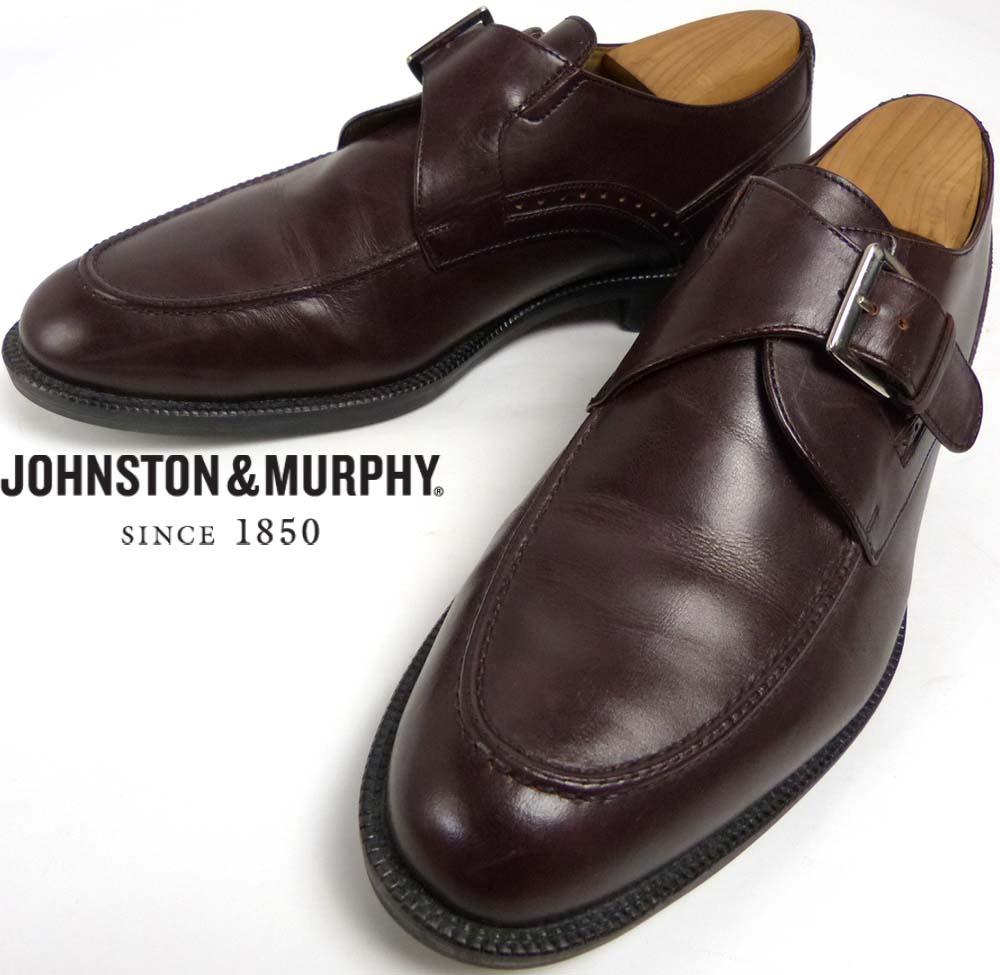ジョンストン&マーフィー Johnston&Murphy モンクストラップ シューズ 9M(27cm相当)(メンズ)【中古】