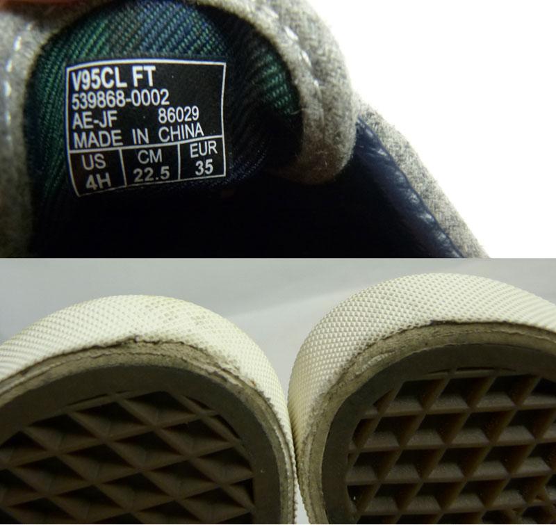 VANS バンズ ERA エラ ウール スニーカー US4H(22.5cm相当)(レディース)【中古】