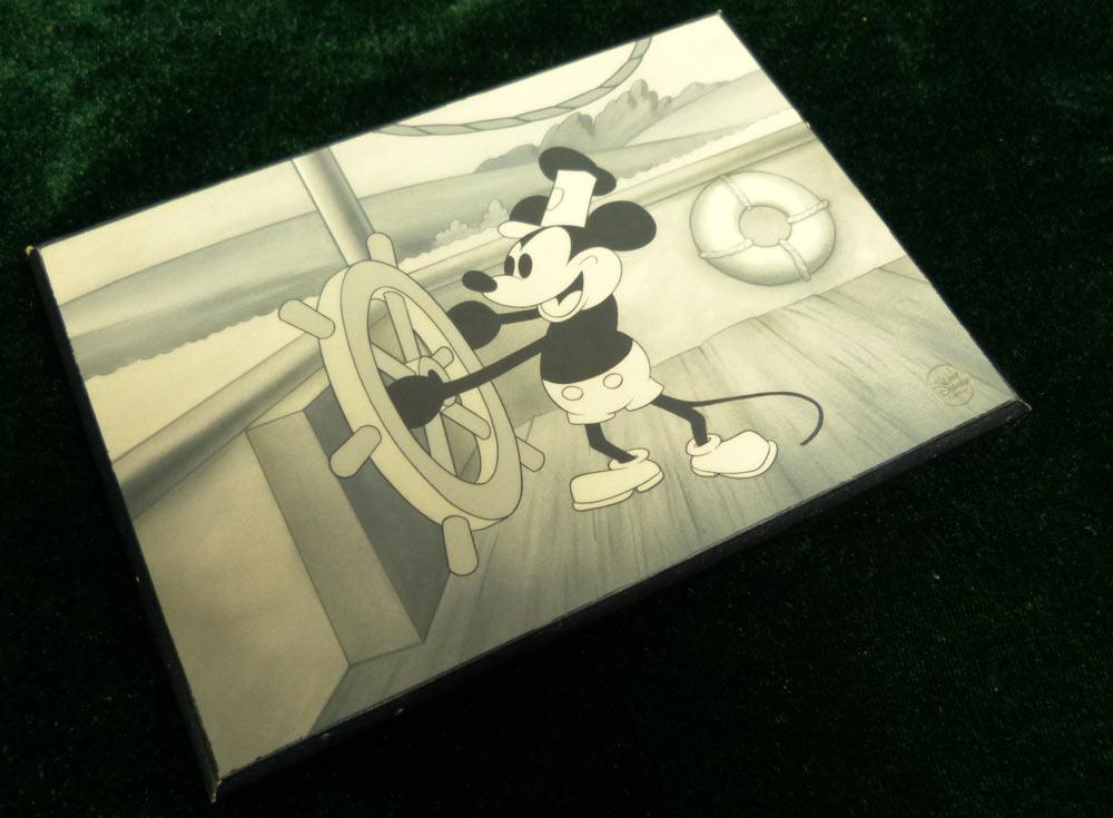 木製 ミッキーマウス Mickey Mouse 壁掛けアート 【中古】