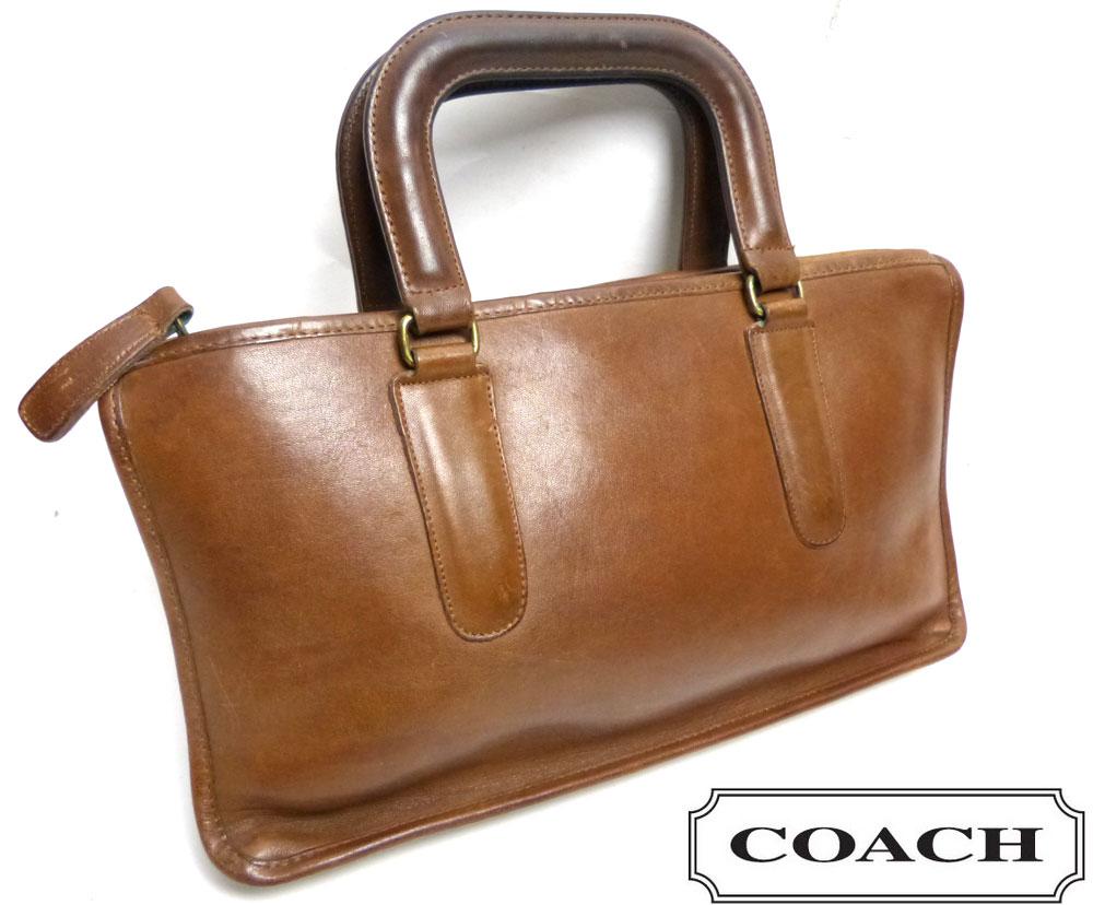 1970-80s オールドコーチ OLD COACH レザーハンドバッグ / ブリーフケース【中古】【送料無料】