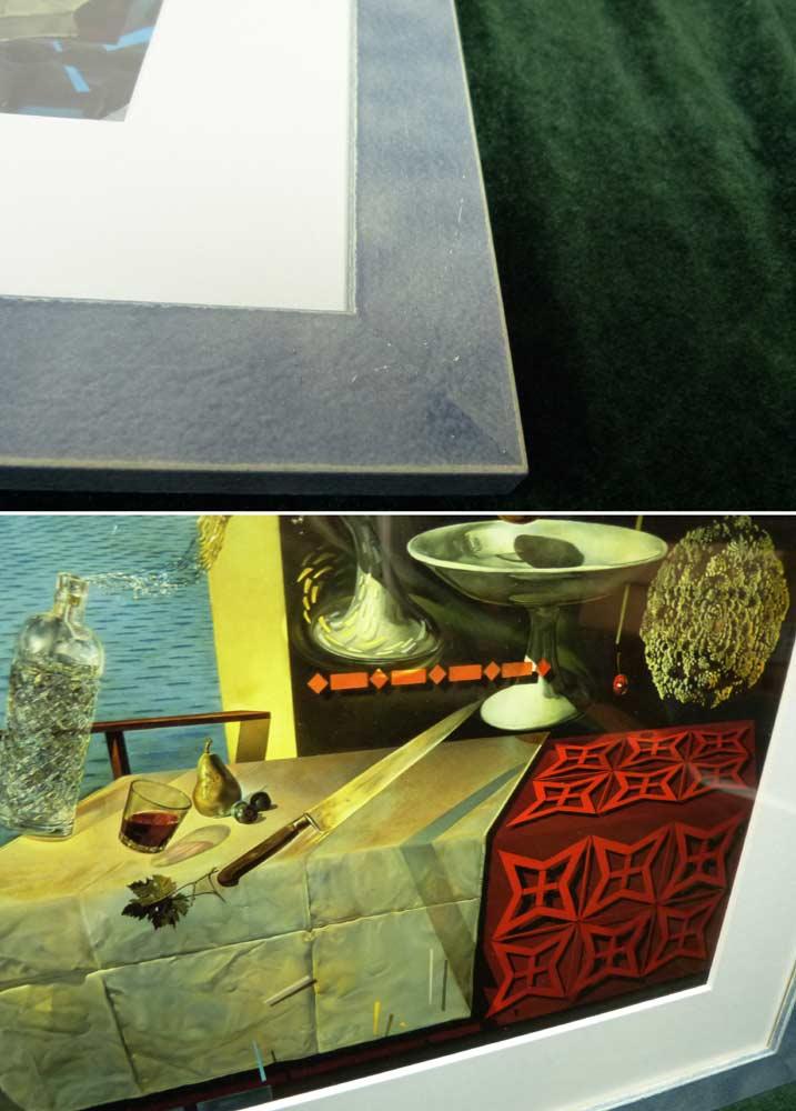 1956年作 サルバドール・ダリ / Salvador Dali  / 素早く動いている静物  / 画集 額装【中古】