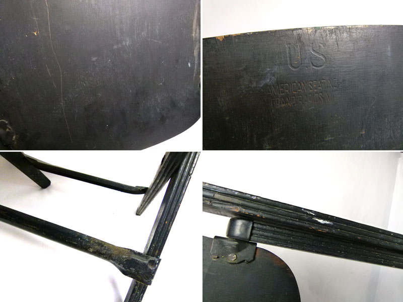 1940〜50s アメリカンシーティング社 American Seating フォールディングチェア 折り畳みイス【中古】【送料無料】