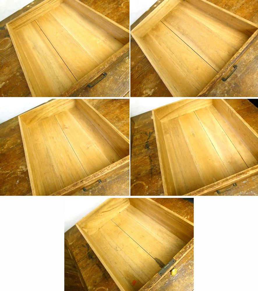 昭和レトロ 古い木製の小引き出し 5段 小箪笥 アンティーク【中古】