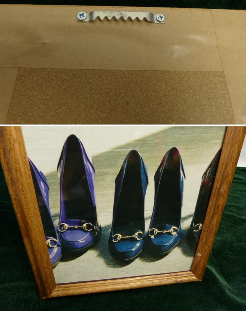 木製額縁 フレーム グッチ(GUCCI )の靴のポスター / 額装【中古】