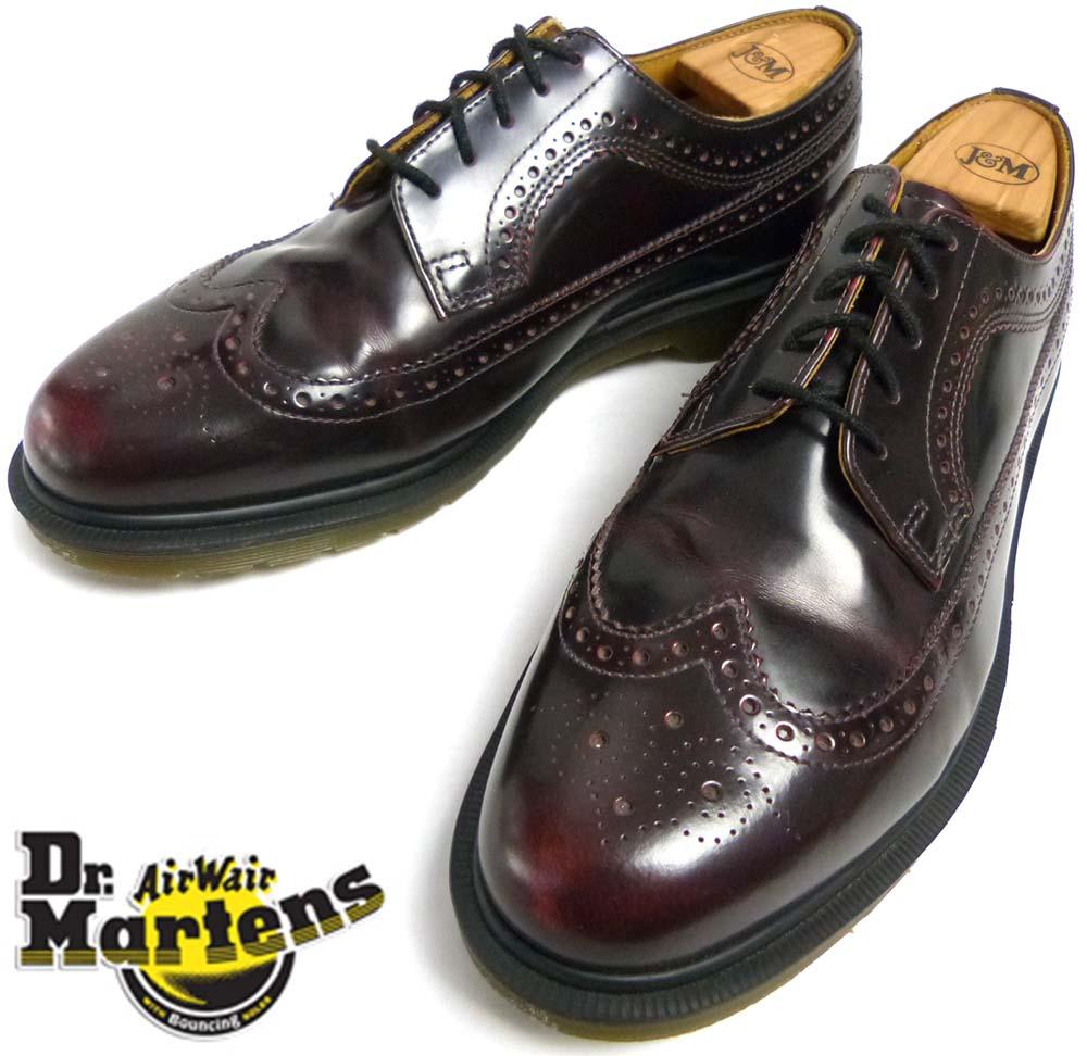ドクターマーチン Dr.Martens 5ホール ウイングチップシューズ UK10(28.5cm相当)(メンズ)【中古】【送料無料】