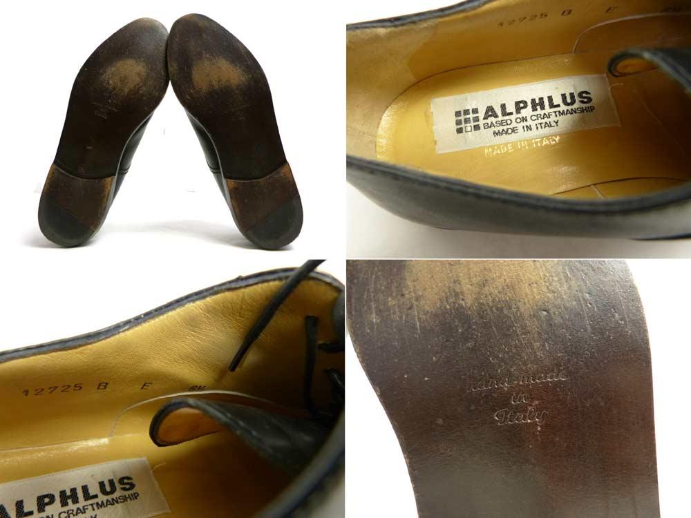 イタリア製 アルフラス ALPHLUS ストレートチップ シューズ 6 1/2(25cm相当)(メンズ)【中古】