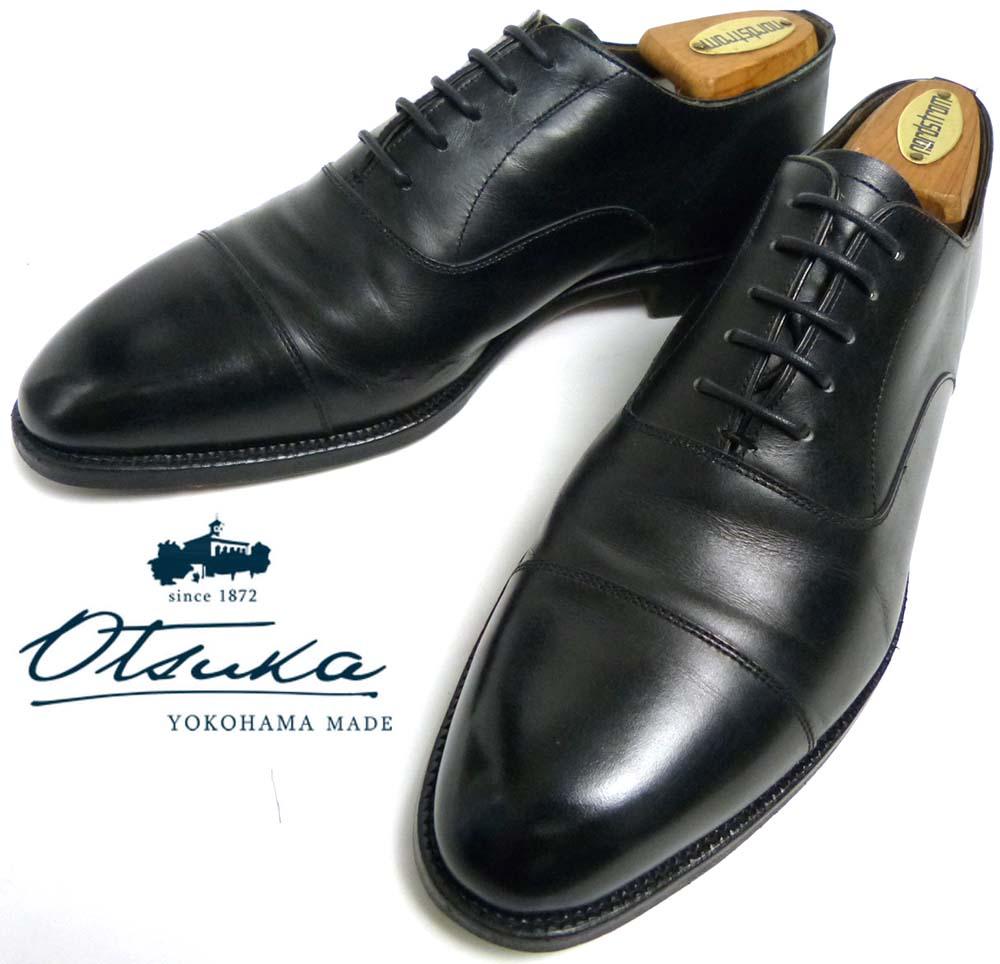 【訳あり】日本製 Otsuka 大塚製靴  IS-401 ストレートチップシューズ 24.5cm相当(メンズ)【中古】
