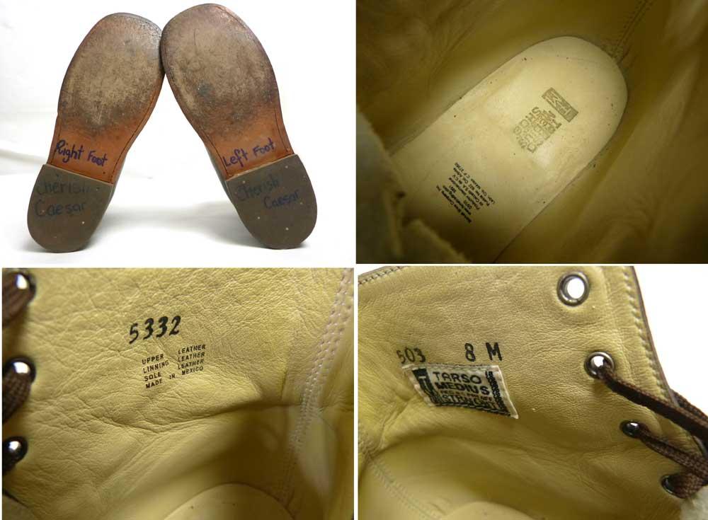 【訳あり】メキシコ製 レースアップブーツ / ワークブーツ 8M(26cm相当)(メンズ)【中古】