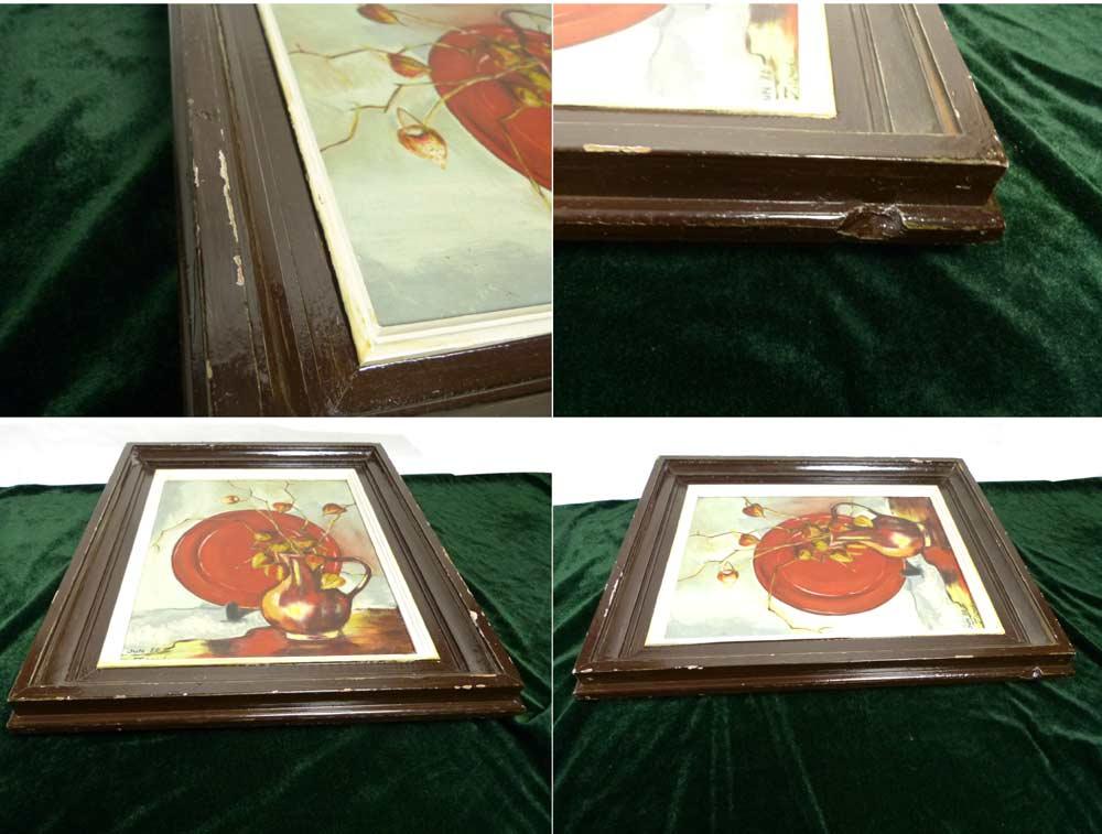 シャビーな額縁 J.wada 木製フレーム 油絵6号 / F6 (油彩額縁)【中古】