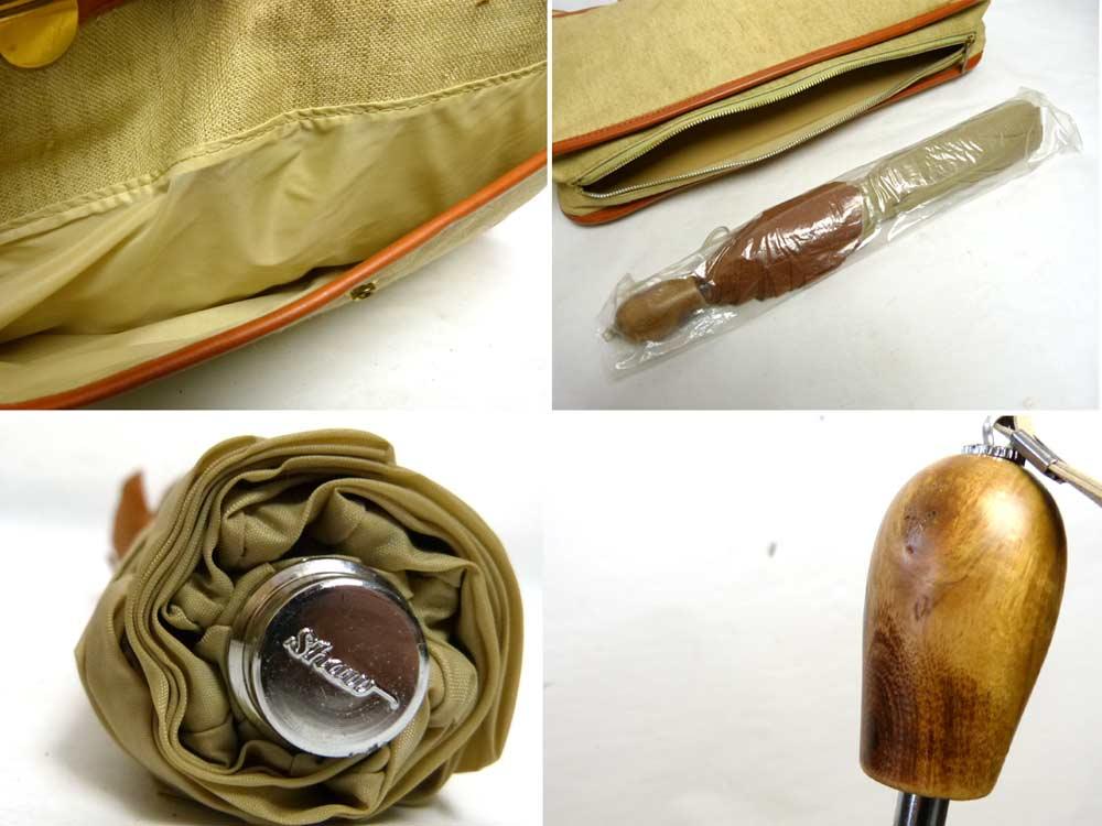 【未使用】ビンテージ BRELLABAG SHAW トートバッグ(折りたたみ傘・タグ付き)(デッドストック)【中古】