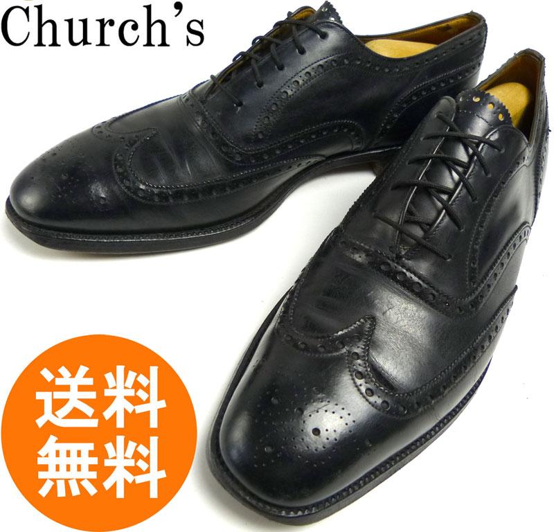 チャーチ Church's ウイングチップシューズ 105C(28.5cm相当)(黒/ブラック)(メンズ)【中古】【送料無料】
