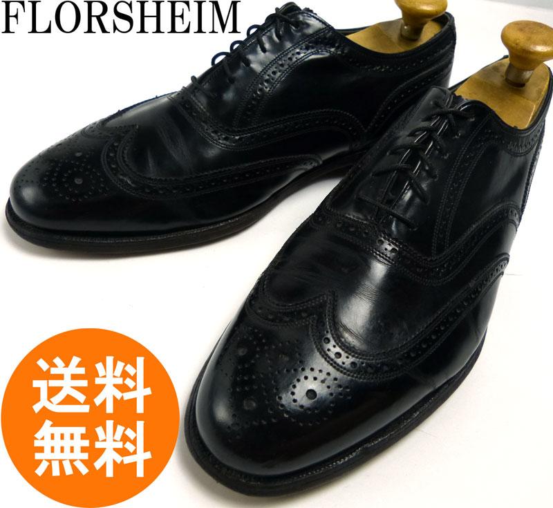 フローシャイム Florsheim Royal Imperial ロイヤルインペリアル ウィングチップシューズ 10 1/2 3E(29cm相当)(メンズ)(ビッグサイズ)【中古】