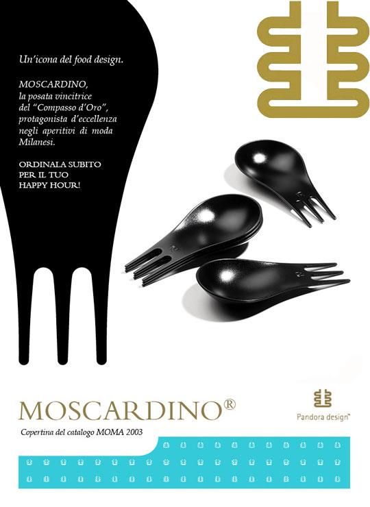 未使用 Pandora Design パンドラデザイン モスカルディーノ スプーン&フォーク 30個セット(ブラック)【中古】